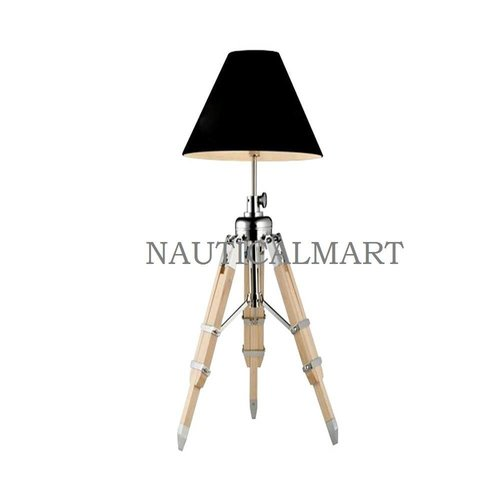 Creative Living Room Lamp Searchlights Photography Light Wood Tripod Table Lamp
