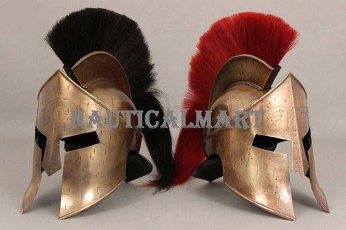 300 Leonidas Armor Helmet New Shade Red/Black Plume