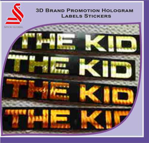 Brand Promotional 3D Hologram Labels Stickers