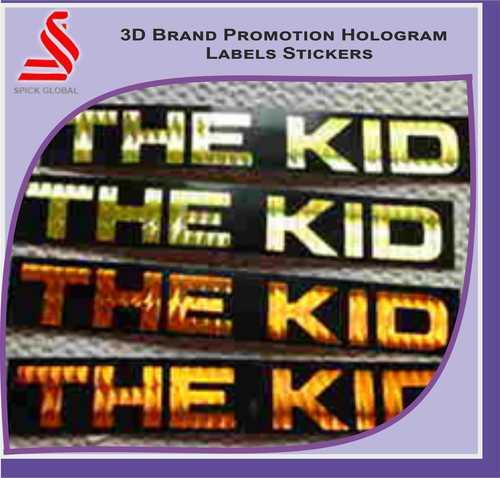 Brand Promotional 3D Hologram Labels Stickers