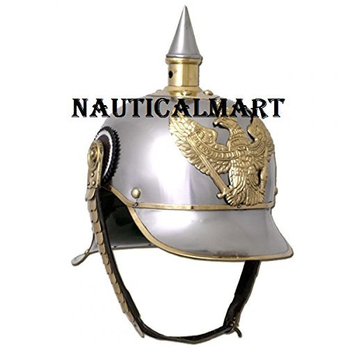 Medieval Armor Steel Prussian Pickel Haube Wearable Helmet