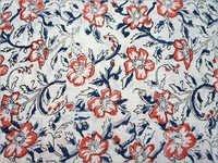 Rayon Linen Hand Block Print Fabric