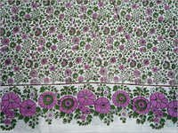 Designer Hand Block Print Cotton Twill Fabric