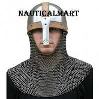 Medieval Armor Spangenhelm Norman Helmet With Aventail