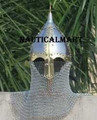 Medieval Viking Vendel Armor Helmet With Chainmail