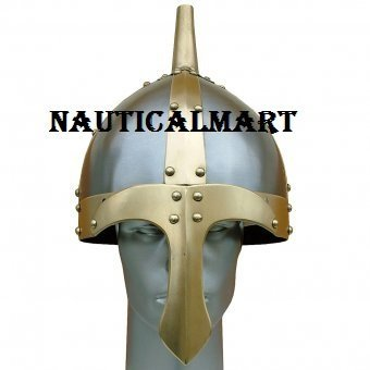 Medieval Slavic Viking Armor Steel Helmet