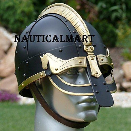 Medieval Viking de luxe Gyllir Black Armor Helmet