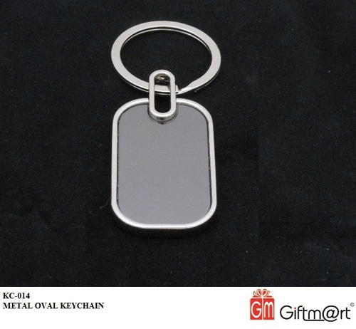 Kc-014-Metal Oval Keychain.