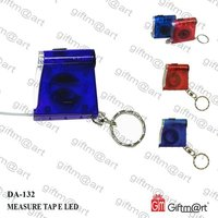 Promotional Tape Measure LED Flashlight Key Chain