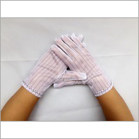 ESD Polyester Gloves with Conductive Ribbon