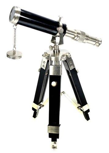 Telescope With Tripod - Silver Desk Nautical Decor