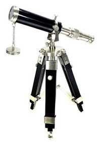 Telescope With Tripod - Silver Desk Nautical Decor