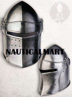 Medieval Armor Visor Steel Helmet