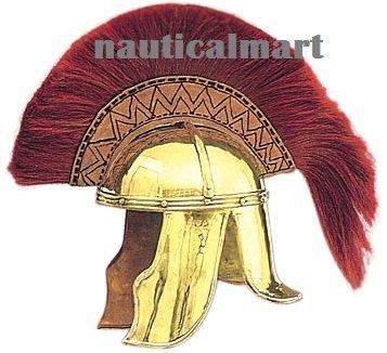 Medieval Brass Cavalier Roman Armor Helmet