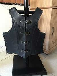 Faux Leather Armor Jacket
