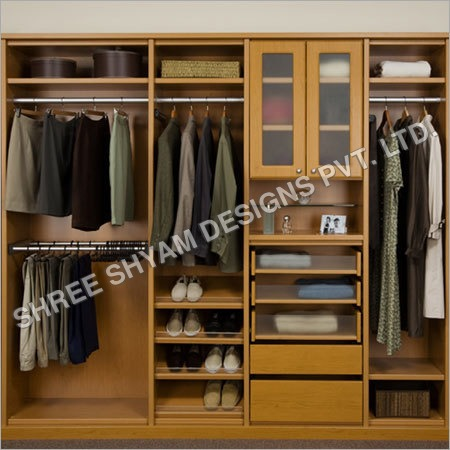 Furniture Light Brown Tall Narrow Wardrobe