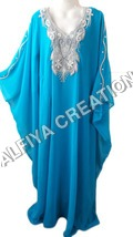 Royal Style Turqiouse Farasha Kaftan Jalabiya Thob