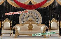 Asian Wedding Golden Stage Furniture