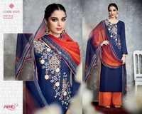 Heer-18 pure cotton satin Embriodary suit