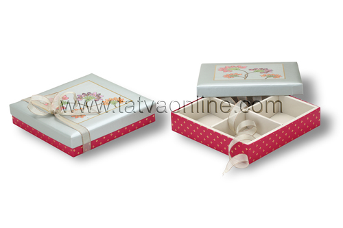 Designer Empty Chocolate Boxes with partitions