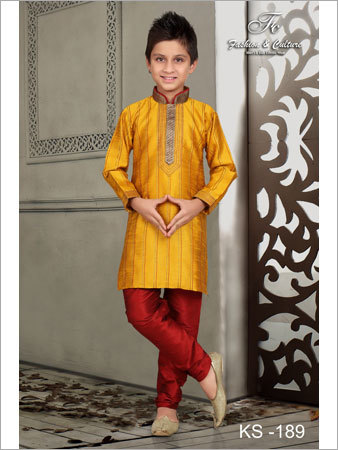 Embroidered Kids Sherwani