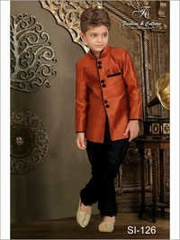 Kids Semi Indo Western Sherwani