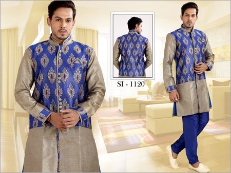 Printed Mens Kurta Jacket
