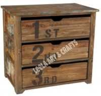 Reclaimed Wood Chest 3 Drawer