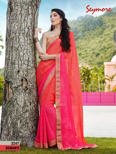 Daily Wear printed Border Saree
