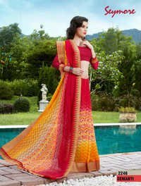 Colorful Printed saree
