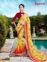 Latest printed Saree