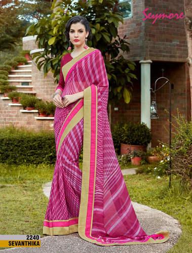 Daily Wear Printed Border Saree