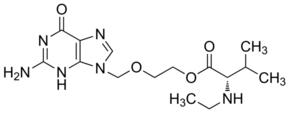 2-[(2-Amino-6-oxo-1,6-dihydro-9H-purin-9-yl)methoxy]ethyl N-ethyl-L-valinate