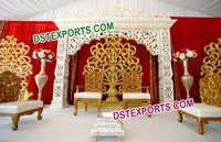 Flower Design Wedding Stage Backdrop Panel