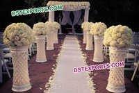 Wedding Aisle Decoration Crystal Pillars