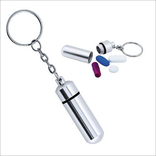 Pillbox Keychain