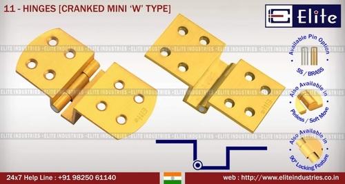 Hinges Cranked Mini 'W' Type