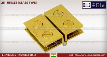 Brass Glass Hinges
