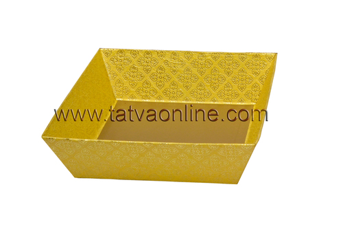 Large Yellow Color Square Tray