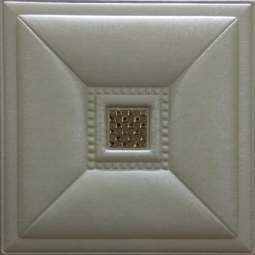 Metallic Beige Leather Tiles