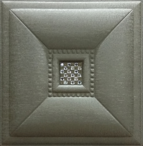 Leather Tiles Metallic Bronze