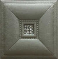 Leather Tiles Metallic Bronze