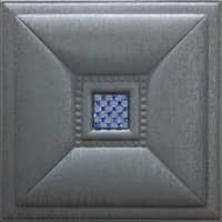 Metallic Silver Leather Tiles