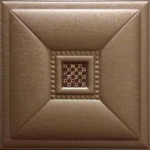 Leather Tiles Metallic Copper