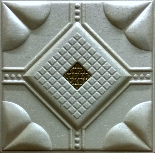 Leather Panel  Mettallic Beige