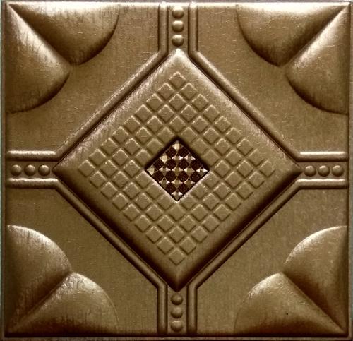 Leather Panel  Metallic Copper