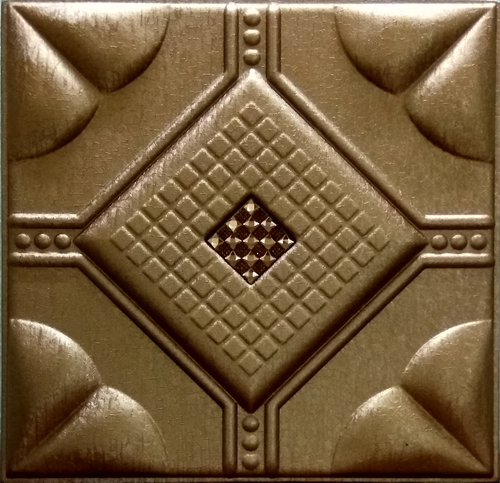 Metallic Copper Leather Panel