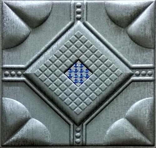 Metallic Silver Leather Panel