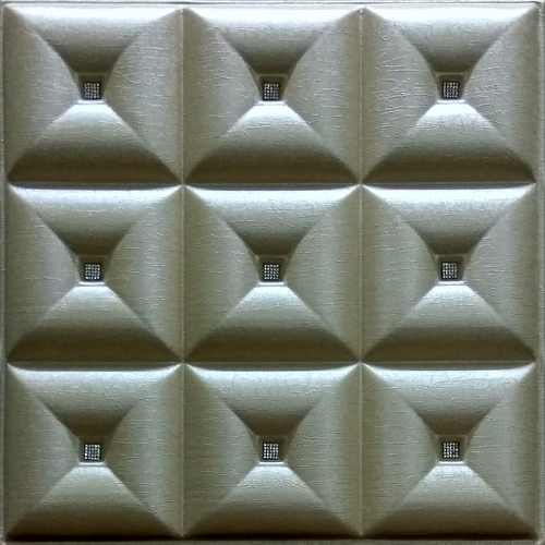 Beige Mettalic 3D Wall Panel