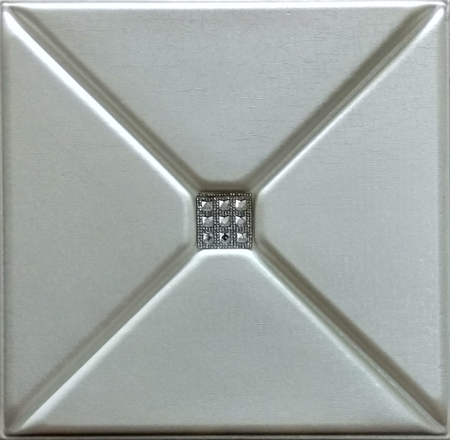 Pearl White 3D Leather Panel